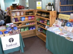 Saturday Traidcraft stall in the Pastoral Centre