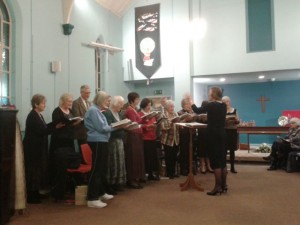 United Choir singing at an Advent service